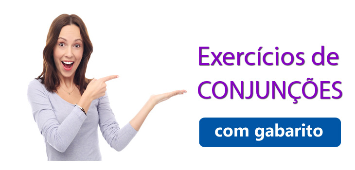 exercícios de conjunções com gabarito