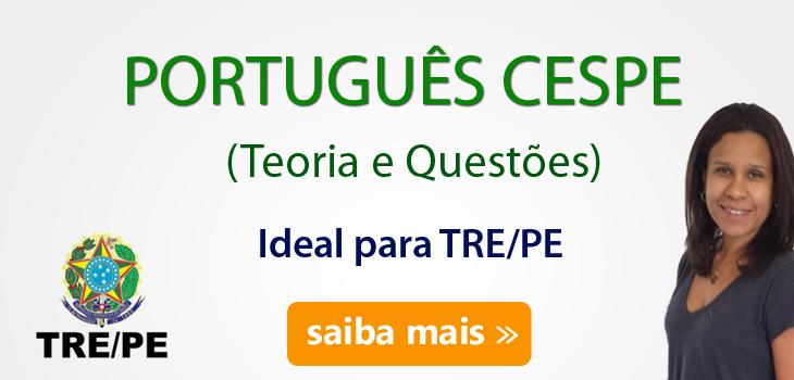 curso português cespe tre pe