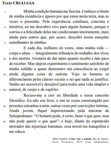 questões cespe português